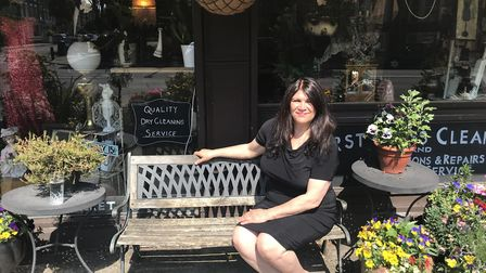 Minerva Ibraham outside her shop, Image in Fonthill Road. Picture: Tom Ladle