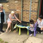 St George's Cllr Tricia Clarke meets staff and parents at Hilldrop Community Centre. Picture: Isling