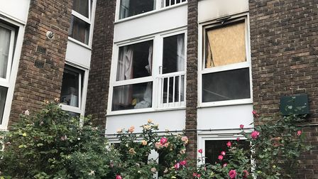 The flat that caught fire in Aberdeen Park. Picture: Tom Ladle
