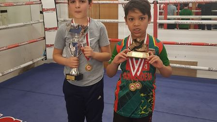 Islington BC infant class youngsters with their awards (pic Reggie Hagland)