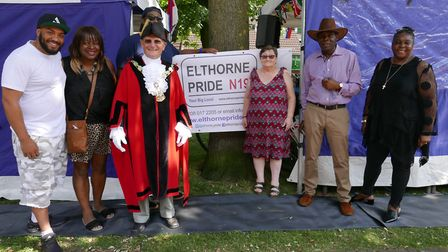Sandi Phillips, second left, at Elthorne Pride's 'big lunch' earlier this month. Picture: Elthorne P