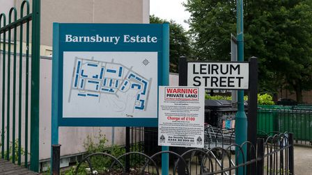 A sign for the Barnsbury Estate in Leirum Street. Picture: Siorna Ashby