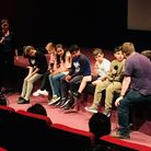 Vittoria Primary School kids during a Q&A about their film Culpeper Paradise. Picture: Vittoria Prim