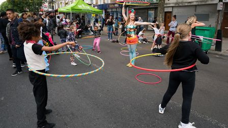 Cally Festival 2018: hula hoops. Picture: Siorna Ashby