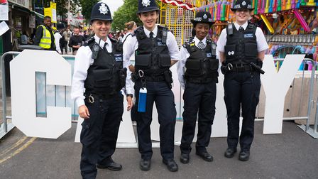 Cally Festival 2018: bobbies on the beat. Picture: Siorna Ashby
