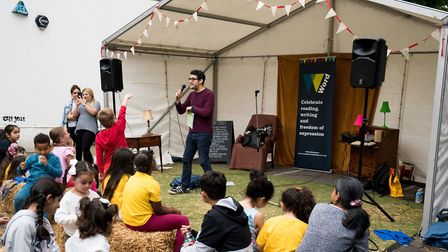 Cally Festival 2018: story telling in Story Street. Picture: Siorna Ashby