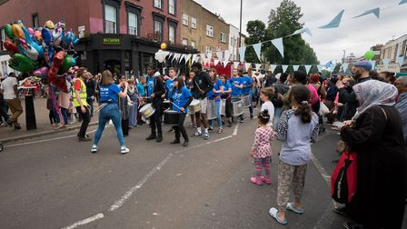 Cally Festival 2018: the parade. Picture: Siorna Ashby