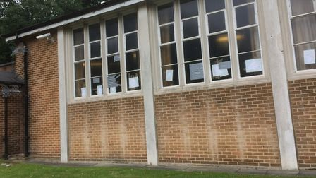 The chapel at Trent Park Cemetery has had its windows smashed.