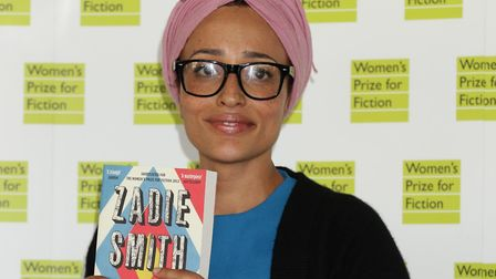 Zadie Smith, pictured in 2013 at the Women's Prize for Fiction at the Royal Festival Hall. Picture: