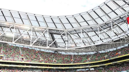 Arsenal are set to play Chelsea at the Aviva Stadium, Dublin in August. PA