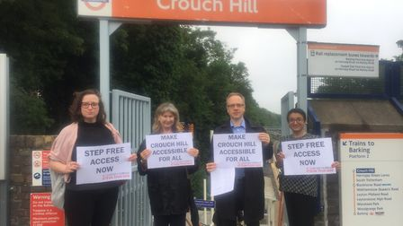 Crouch Hill cue cards: narcisisistic? Picture: ISLINGTON LABOUR