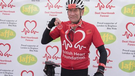 Steve Woolf completed the British Heart Foundation London to Brighton Bike Ride to raise funds for t