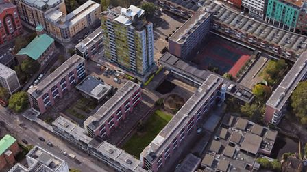 Golden Lane estate is getting �7m for housing and new school. Picture: Google Maps