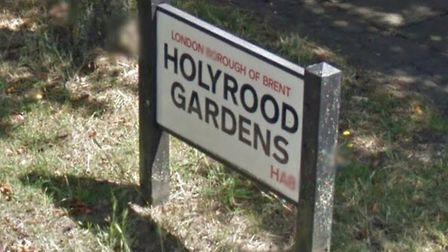 The woman was mugged in Holyrood Gardens, Edgware. Picture: Google