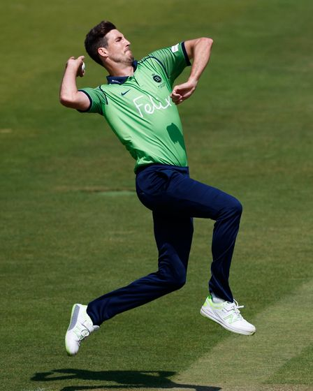 Middlesex's Steven Finn during the international friendly match at Lord's (pic John Walton/PA)