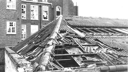 Bomb damage at the ANC office at Penton Street. Picture: Anti-Apartheid Movement Archive