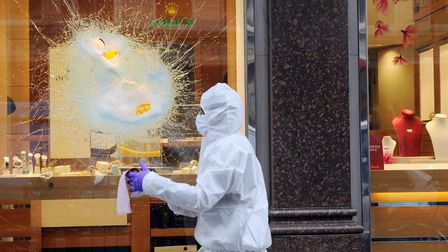 A general view picture of a previous smash and grab scene in central London. Picture: Stefan Roussea