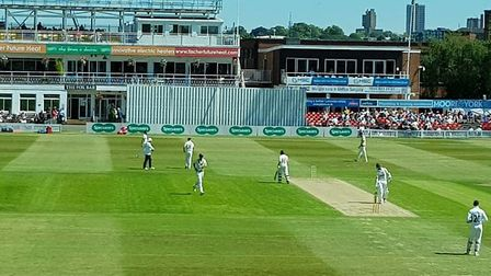 Leicestershire CCC v Middlesex CCC at Grace Road. CREDIT @laythy29