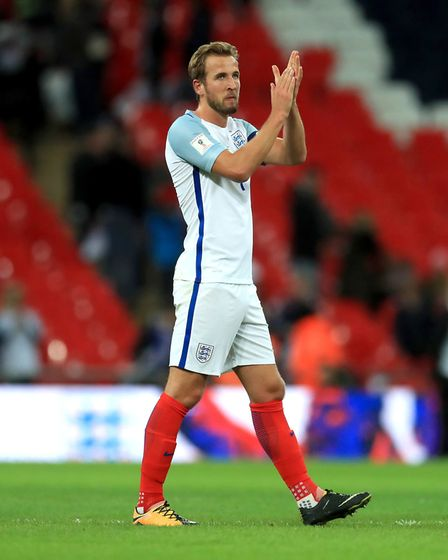 File photo dated 05-10-2017 of England's Harry Kane. PRESS ASSOCIATION Photo. Issue date: Wednesday
