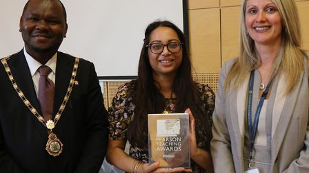 Deputy mayor for Brent Ernest Ezeajughi, history teacher Shalina Patel and head teacher Nicki Hyde-B