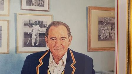 Kent and England icon Sir Colin Cowdrey. CREDIT @laythy29