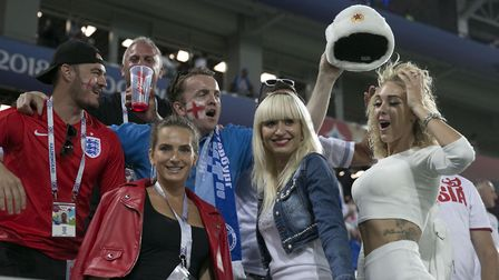 England fans during the FIFA World Cup Group G match at Kaliningrad Stadium.PA