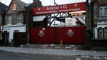The gates of the North Bank, locked for the very last time, after the Wigan Athletic game in May 200