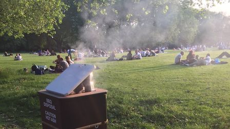 Smoky barbecues in Highbury Fields in 2016. Picture: Caroline Russell