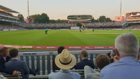 A sellout crowd enjoyed Middlesex beat Surrey by three wickets at Lord's. CREDIT Barrie Douce