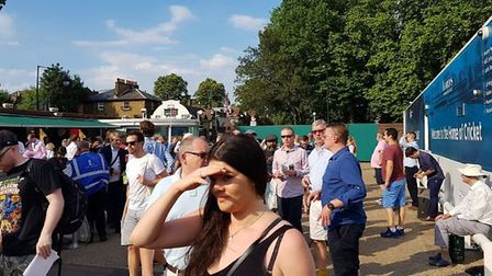 Crowds flock to Lord's to watch the T20 Vitality Blast London derby between Middlesex and Surrey at