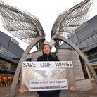 Olivia Gordon Clark, 10, pictured in November at the start of her Angel Wings campaign. Picture: Pol