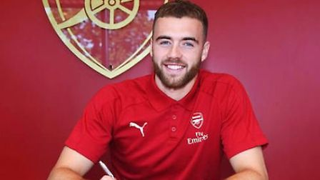 Calum Chambers has signed a new cotnract with Arsenal. CREDIT ARSENAL FC