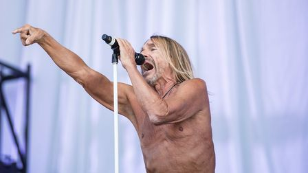 Iggy Pop performs at Finsbury Park. Photo: Michelle Roberts