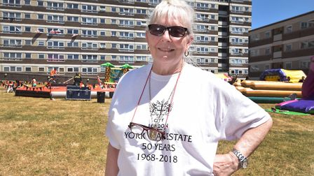 Brenda Kyriacou, of the York Way Estate's tenants and residents' association, at the 50th anniversar