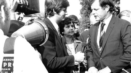 Senator Edward Kennedy visits NPH in 1971 in a fact-finding tour about the pros and cons of free hea
