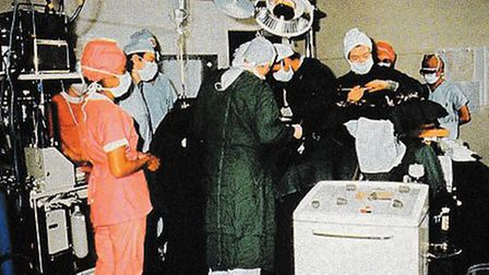 The first surgical procedure at NPH in 1970. One of the surgeons is called Mr A Doctor