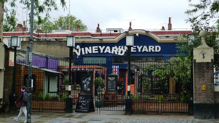 The Vineyard pub pictured in 2012. Police were called after a 'moped raid' last night. Picture: Ewan