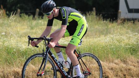 Cycling columnist Toby Miles in competitive action on the continent