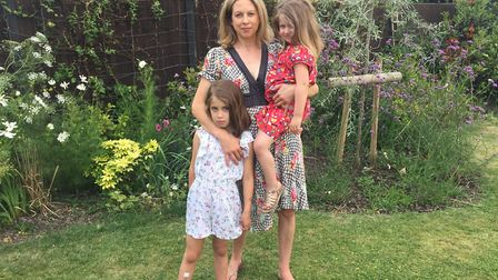 Alison Durant with her daughter Livia (left) and Catarina (right). Picture: Alison Durant