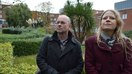 Will McMahon and Sian Berry on the prison site in 2016. Picture: POLLY HANCOCK