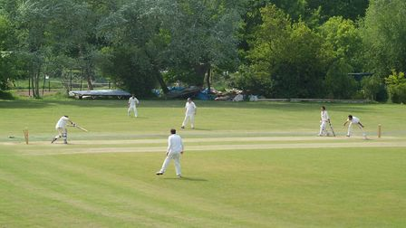 Highgate in action in the Middlesex County League (pic: Michael Clarke/Highgate CC).