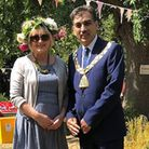 Mrs O'Higgins with Mayor of Brent Cllr Arshad Mahmood