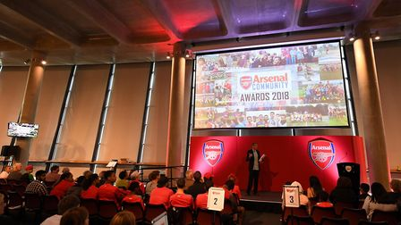 The Arsenal in the Community Awards at the Emirates Stadium. Picture: Arsenal FC/David Price