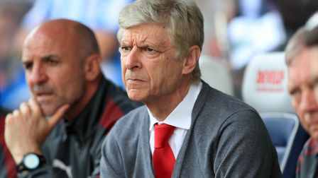 Arsenal manager Arsene Wenger during the Premier League match at the John Smith's Stadium, Huddersfi