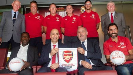Arsenal Legends at a preview event to highlight the match against Real Madrid Legends on Saturday, S