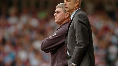 Fromer Arsenal manager Arsene Wenger and his assistant manager Pat Rice