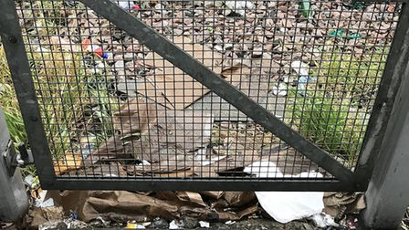Rubbish by the tracks in Willesden. Picture: Cllr Jumbo Chan