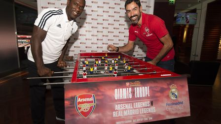 Arsenal Legends v Real Madrid Legends Launch to be played at Emirates Stadium, Saturday 8 September
