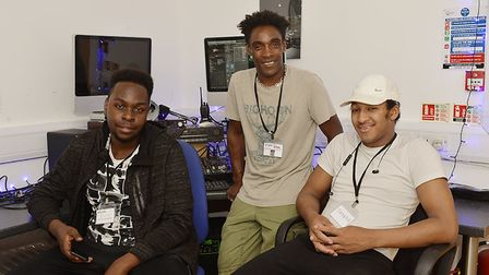 Copenhagen Youth Project members Richard Ratumba, Stephen Griffith and Malone Amarni. Picture: The I