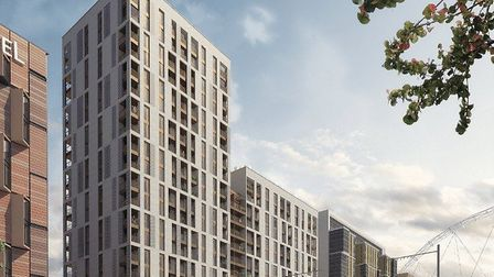 An artist's impression of the new housing.